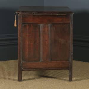 Antique English 18th Century Georgian Oak Joined Triple Panel Coffer Chest Blanket Box (Circa 1780) - yolagray.com
