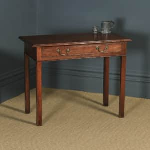 Antique English Georgian Mahogany Occasional Hall Writing Lowboy Side Table (Circa 1800) - yolagray.com