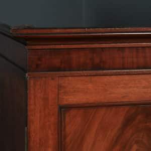 Antique English Victorian Flame Mahogany Linen Press Wardrobe (Circa 1840) - yolagray.com