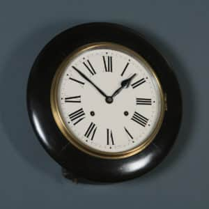 "Antique 14"" Mahogany Ansonia Railway Station / School Round Dial Wall Clock (Chiming / Striker) - yolagray.com"