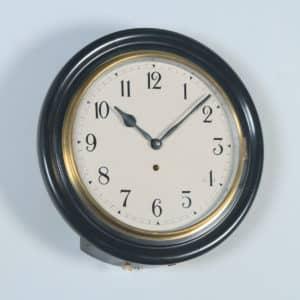 "Antique 16"" Mahogany Railway Station / School Round Dial Wall Clock (Timepiece) - yolagray.com"