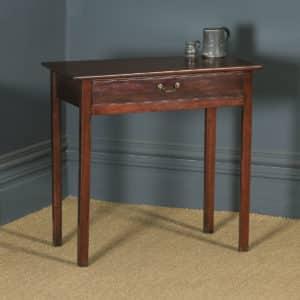 Antique English Georgian Mahogany Occasional Hall Writing Lowboy Side Table (Circa 1810) - yolagray.com