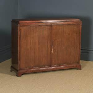 Vintage 20th Century Georgian Style Teak Shoe Cupboard / Storage Cabinet (Circa 1950) - yolagray.com
