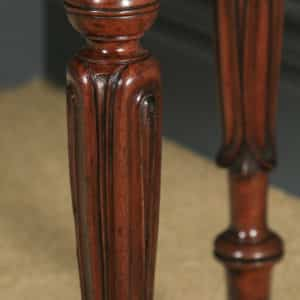 Antique English Pair of William IV Mahogany Console Side Hall Occasional Tables (Circa 1835) - yolagray.com