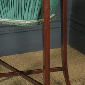 Antique English Georgian Regency Silky Oak & Rosewood Ladies Sewing Work Table (Circa 1820) - yolagray.com