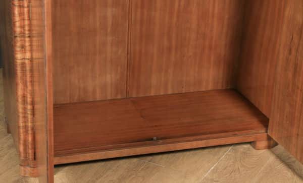 Antique Scottish Art Deco Burr Walnut Two Door Armoire Wardrobe (Circa 1930) - yolagray.com