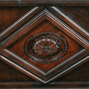 Tudor Style 5ft King Size Oak Carved Full Tester Four Poster Bed (Circa 1980) - yolagray.com