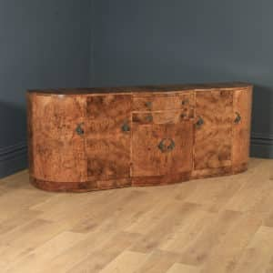 Antique English Art Deco Epstein Burr Walnut Cloud Shape Sideboard Cabinet Cupboard (Circa 1930) - yolagray.com