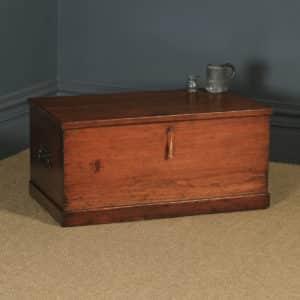 Antique English Georgian Pine Trunk Blanket Box / Chest / Coffee Table (Circa 1830) - yolagray.com