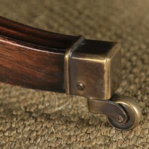 Single Georgian Regency Style Mahogany & Leather Revolving Desk Armchair (Circa 1970) - yolagray.com