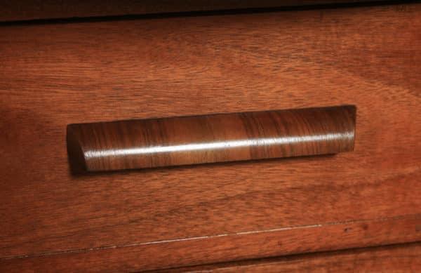 Antique English Art Deco Epstein Burr Walnut Cloud Shape Sideboard Cabinet Cupboard (Circa 1930) - yolagray.com