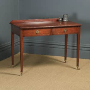 Antique English Victorian Regency Style Mahogany Occasional Hall / Side Table, by Maple & Co. (Circa 1890) - yolagray.com