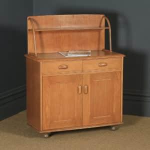 Vintage English Ercol Style Oak Sideboard / Dresser / Cupboard by Priory (Circa 1960) - yolagray.com