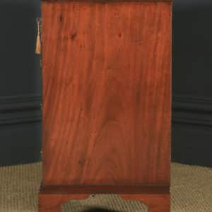 Small Antique English Georgian Mahogany Chest of Drawers with Brushing Slide (Circa 1790) - yolagray.com
