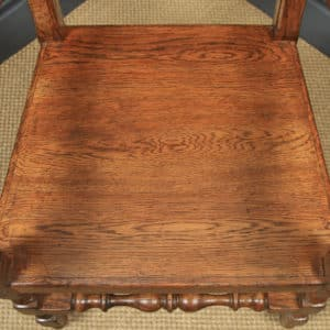 English Set of 17th Century Style 8ft Oak Farmhouse Kitchen Refectory Table & 8 Wainscot Kitchen Dining Chairs, by Taylor & Co (Circa 1980) - yolagray.com