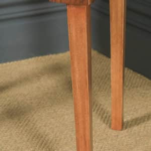Antique English Art Deco Figured Walnut Concave Bedside / Occasional Side Table (Circa 1930) - yolagray.com