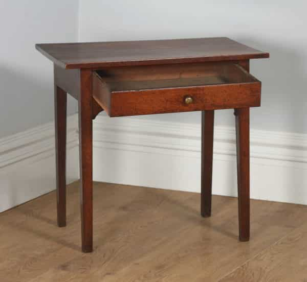 Antique English Georgian Oak Country Side / Hall / Occasional / Writing Table (Circa 1800) - yolagray.com