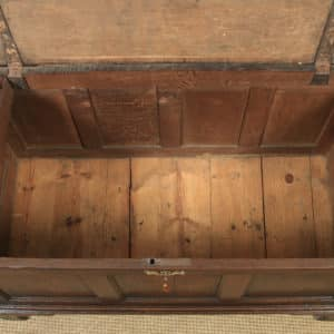 Antique English Georgian Oak Joined Triple Panel Mule Chest Blanket Box Coffer (Circa 1780) - yolagray.com