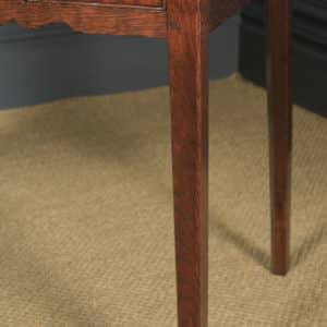 Antique English Georgian Oak Cross Banded Occasional Side Hall Lowboy Table (Circa 1780) - yolagray.com
