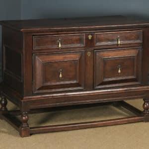 Antique English Georgian Oak Geometric Cabinet / Cupboard on Stand (Circa 1740) - yolagray.com