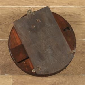 Antique 14″ Mahogany Enfield Railway Station / School Round Dial Wall Clock (Chiming) - yolagray.com