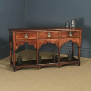 Antique Welsh Georgian Oak Potboard Low Dresser Base Sideboard (Circa 1810) - yolagray.com
