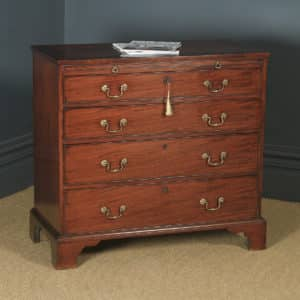 Antique English Georgian Mahogany Chest of Drawers (Circa 1790) - yolagray.com