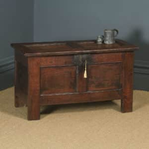 Antique English 18th Century Georgian Oak Joined & Panelled Coffer Chest Blanket Box Trunk (Circa 1720) - yolagray.com
