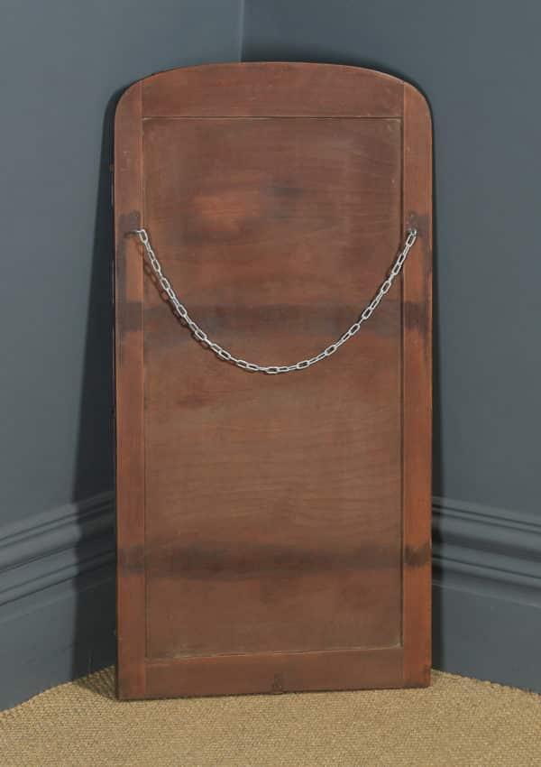Antique English Art Deco Rectangular Shaped Portrait Hanging Wall Mirror (Circa 1930) - yolagray.com