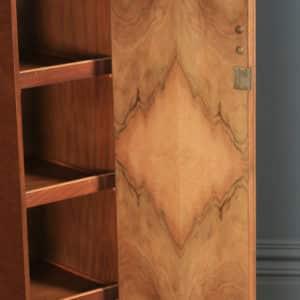 Antique English Art Deco Figured Walnut Two Door Wardrobe (Circa 1930) - yolagray.com