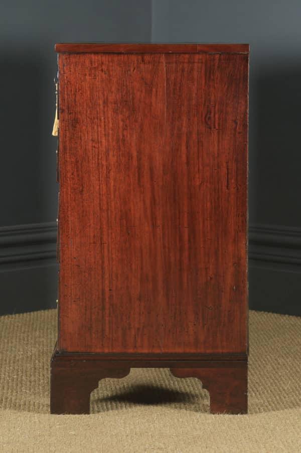 Antique English Georgian Mahogany Chest of Drawers (Circa 1790) - yolagray.com