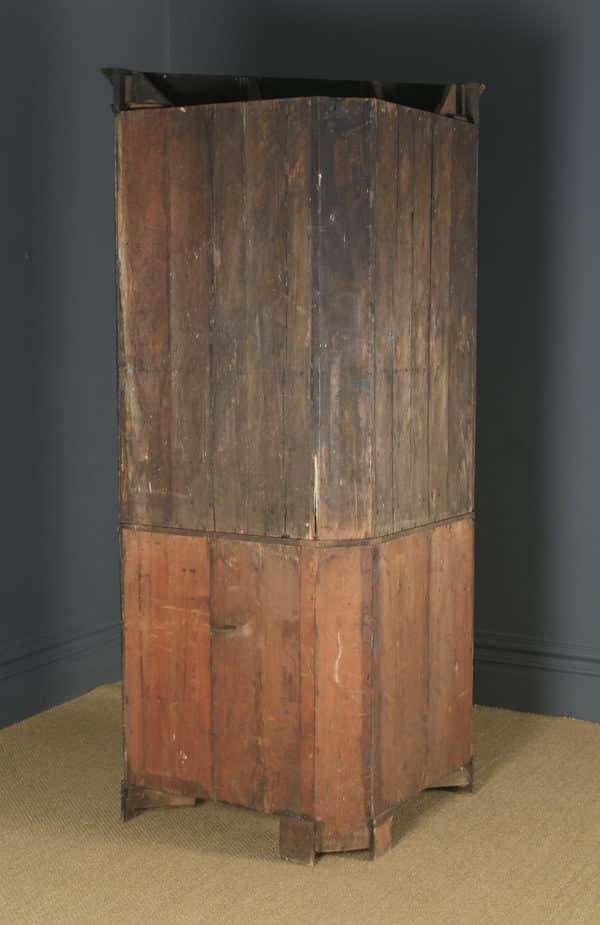 Antique English Georgian Oak Floor Standing Double Corner Cupboard (Circa 1780) - yolagray.com