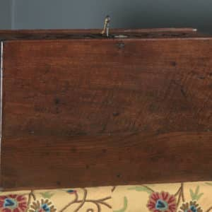 Antique English 17th Century Charles II Solid Oak Bible / Writing Box / Trunk / Chest (Circa 1680) - yolagray.com
