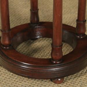 Antique English Victorian Mahogany Circular Stick & Umbrella Hall / Snooker Cue Stand (Circa 1860) - yolagray.com