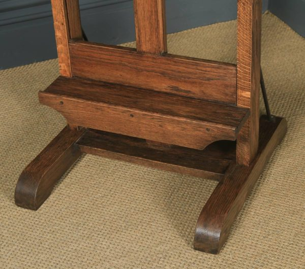 Large Antique English Edwardian Oak Artists Picture Painting Studio Easel (Circa 1910) - yolagray.com