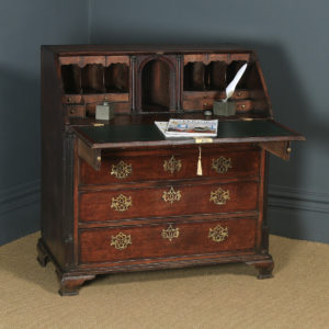 Antique English 18th Century Georgian Oak Office Bureau Desk (Circa 1780) - yolagray.com