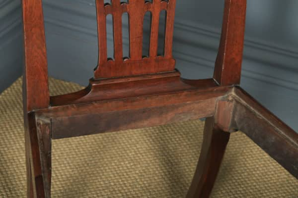 Antique English Pair of Georgian Chippendale Mahogany Dining / Side Chairs (Circa 1780) - yolagray.com