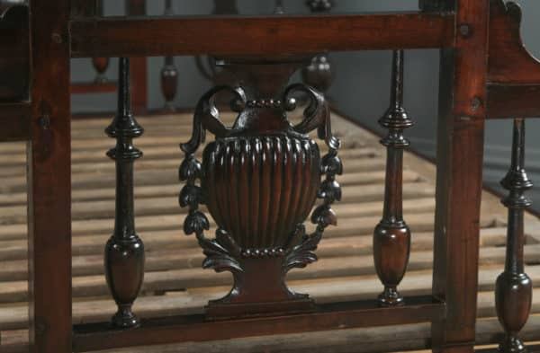 Antique 5ft Victorian Anglo-Indian King-Size Bombay Four Poster Bed (Circa 1880) - yolagray.com