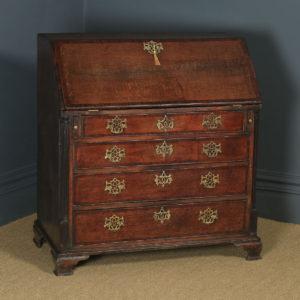 Antique English 18th Century Georgian Oak Office Bureau Desk (Circa 1780) - yolagray.com