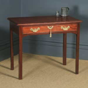 Antique English Georgian Mahogany Occasional Hall Writing Lowboy Side Table (Circa 1780) - yolagray.com