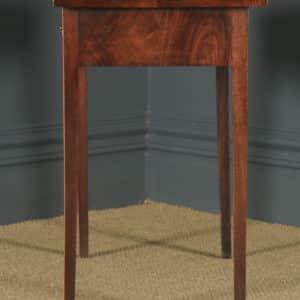 Antique English Georgian Flame Mahogany Occasional Side Hall Writing Table (Circa 1780) - yolagray.com