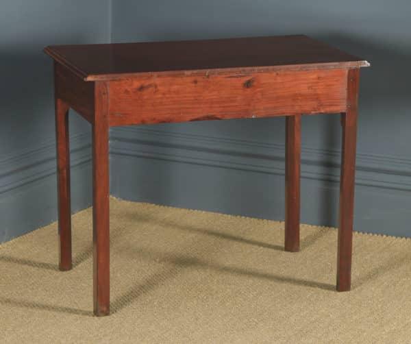 Antique English Georgian Mahogany Occasional Hall Writing Lowboy Side Table (Circa 1780) - yolagray.com