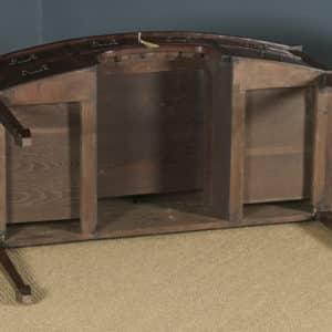 Antique English Edwardian Georgian Style Flame Mahogany Bow Front Ladies Writing Table Desk (Circa 1910) - yolagray.com