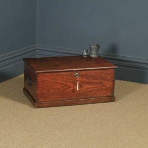 Antique English Georgian Oak & Elm Trunk Blanket Box / Chest / Coffee Table (Circa 1810) - yolagray.com