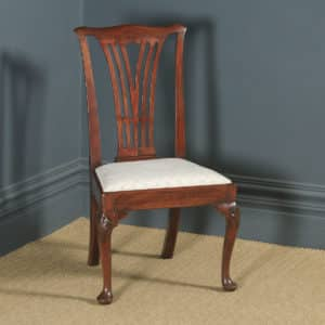 Antique English Georgian Chippendale Mahogany Ladies Dining / Side / Office Desk Chair (Circa 1780) - yolagray.com