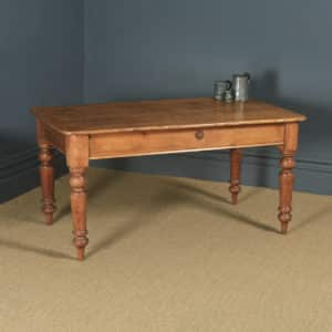 "Antique English Victorian 4ft 9"" Pine Farmhouse Kitchen Refectory Table (Circa 1880) - yolagray.com"
