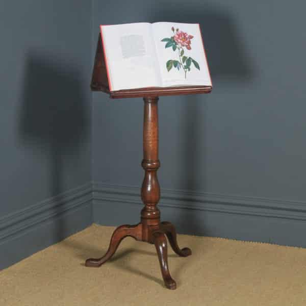 Antique English Georgian Oak Country Duet Music & Book Stand Lectern (Circa 1790) - yolagray.com