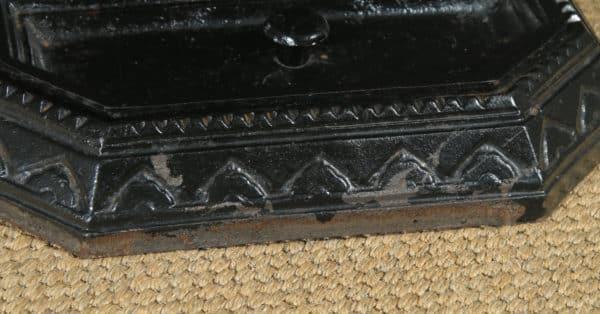 Antique English Victorian Cast Iron Painted Stick & Umbrella Hall Stand (Circa 1890) - yolagray.com