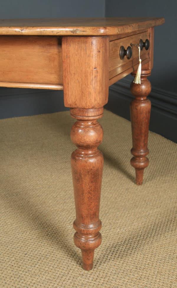 "Antique English Victorian 4ft 9"" Pine Farmhouse Kitchen Refectory Table (Circa 1880) - yolagray.com"