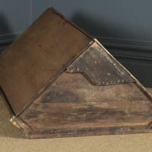 Antique English Georgian Oak Wall Hanging Corner Cupboard / Cabinet (Circa 1780) - yolagray.com